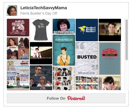Ferris Bueller's Day Off Pinterest Board
