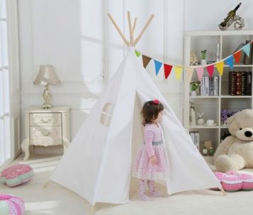 Indoor Outdoor Teepee by Dream House ($54.99) is a 2016 TechSavvyMama.com gift guide pick for toddlers and preschoolers.