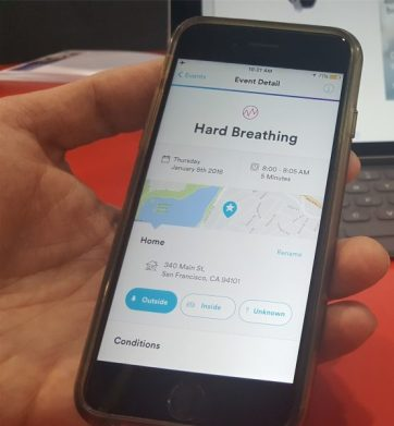 New Technology from 3M Company Works to Monitor Breathing and Provide Insights for Users with Breathing Sensitives #CES2017. More info on TechSavvyMama.com