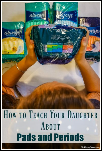 teaching your daughter about pads and periods