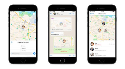 Whatsapp Launches 'Live Location'