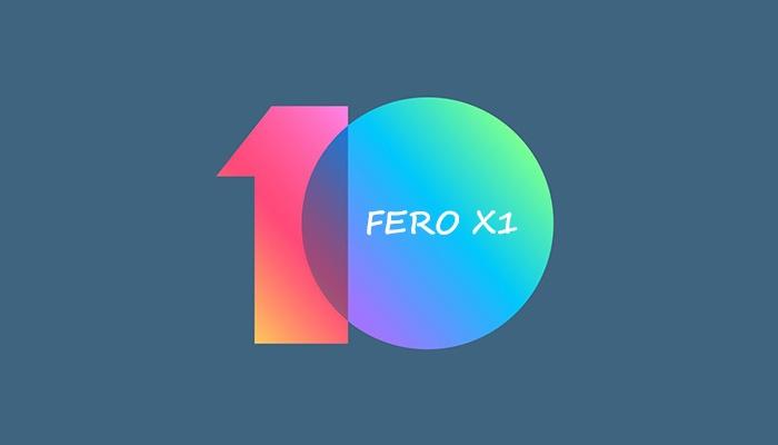 MIUI 10 for fero Royale X1