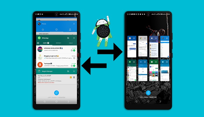 How To Enable Grid Recent Apps On Android Oreo