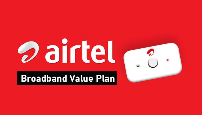 Airtel new Home broadband value plan