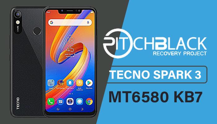 TWRP For Tecno Spark 3 KB7