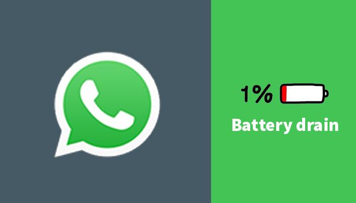 WhatsApp draining battery