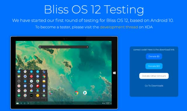 Bliss OS 12 - Android 10 10 For PC
