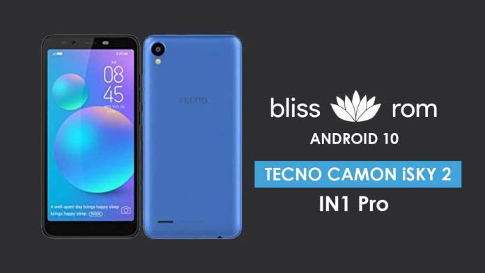 Android 10 for Tecno Camon iSky 2 IN1 Pro