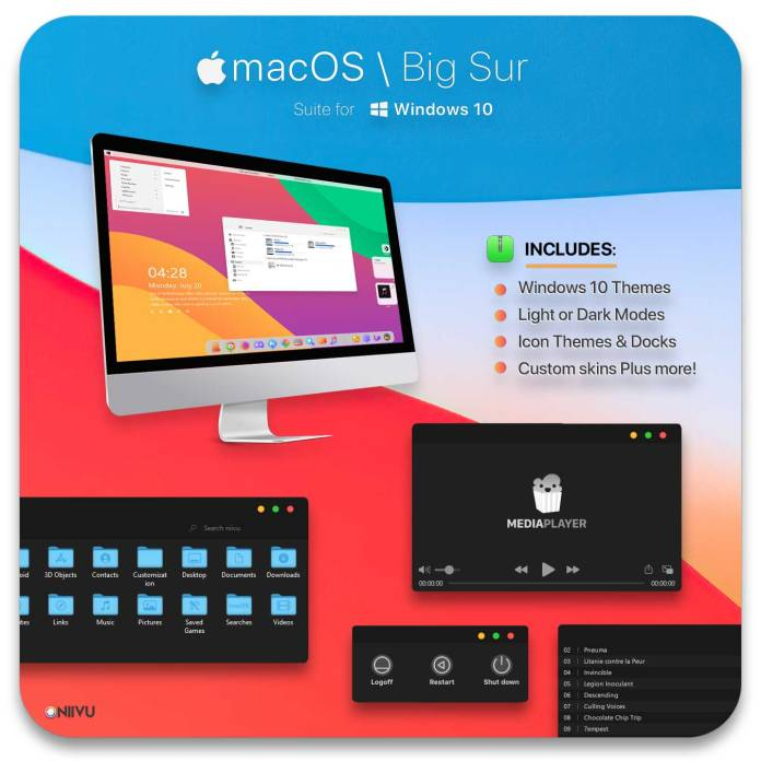 MacOS BigSur theme for Windows 10