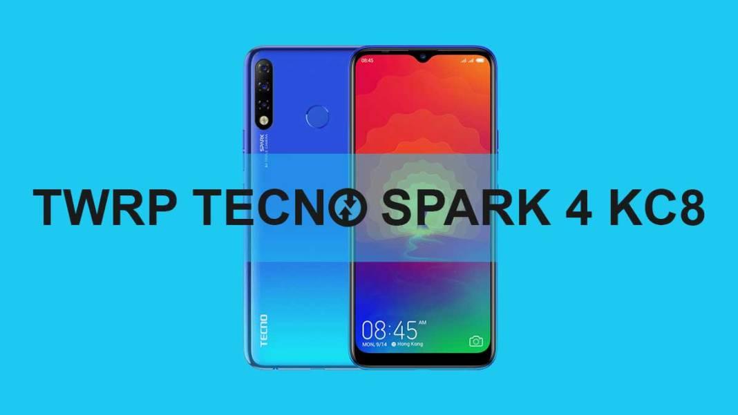 TWRP For Tecno Spark 4 KC8