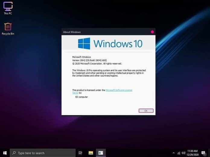 Windows 10 20H2 superlite compact 5