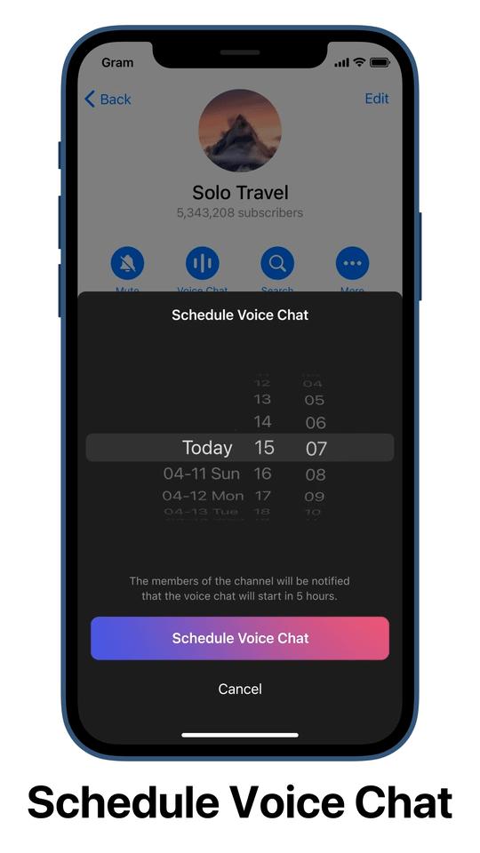 Telegram Scheduled Voice Chat