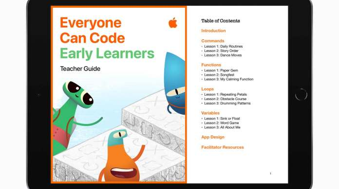 APPLE LAUNCHES NEW PROGRAMMING RESOURCES FOR STUDENTS