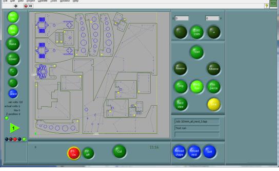 CNC run screen