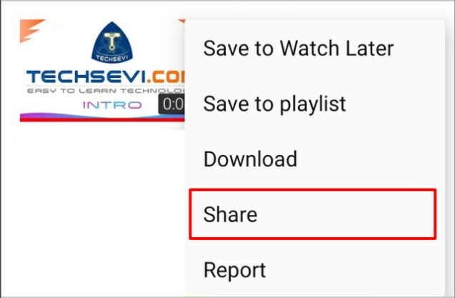Youtube-Video-Share-Option