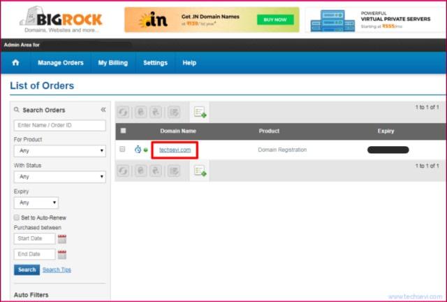 Bigrock-Domain-Settings