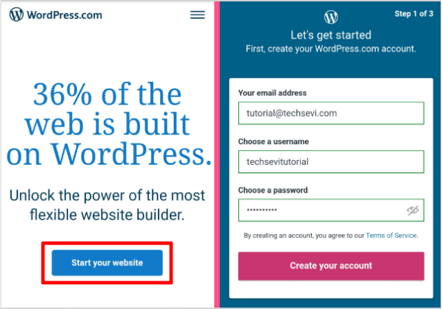 Wordpress-Create-Free-Website