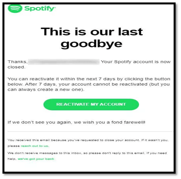Reactivate Spotify Account