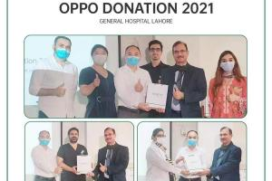 OPPO Donates Health Supplies to General Hospital in Lahore