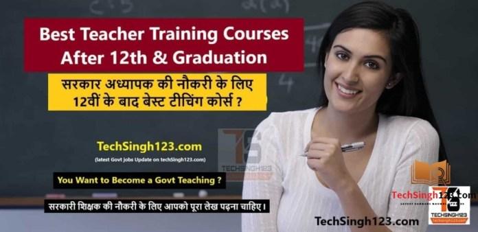 Best Teacher Training Courses After 12th & Graduation