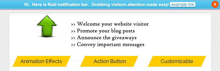 Fluid Notification Bar WordPress Plugin