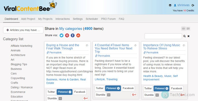 Viral Content Bee Dashboard
