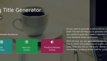 List of Best Article Title Generators to Create Catchy Title