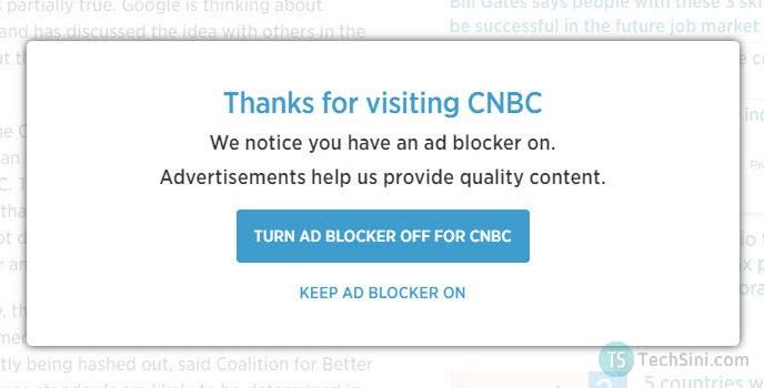 CNBC adblocker
