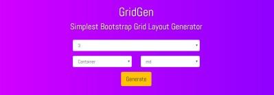 GridGen Bootstrap Grid Generator Tool