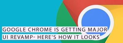 Google Chrome UI Update