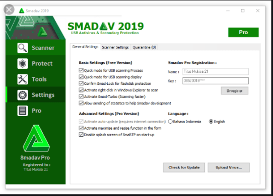SmadAV Pro 2019 + Lifetime Serial Key