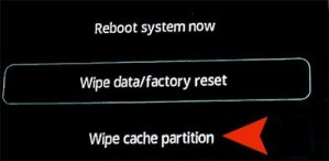 CLEAR DATA, CLEAR CACHE