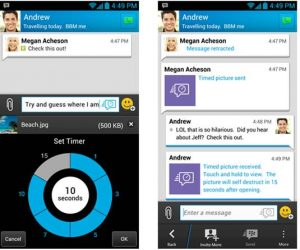 timed messages on bbm latest version