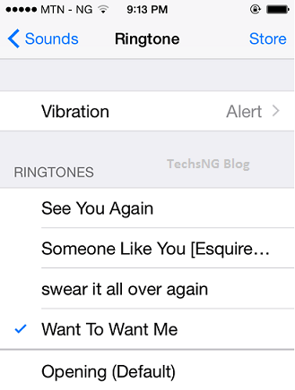 tone settings on iPhone