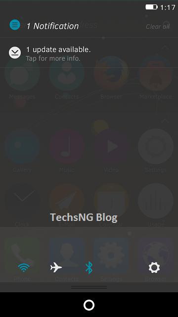 firefox OS notification tray