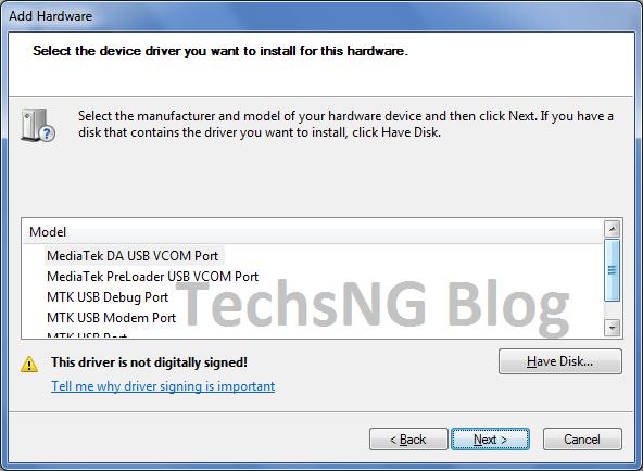 install mediatek driver on windows 7