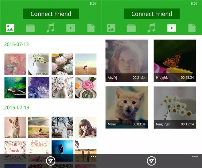 flash share / xenfer now available on windows phone