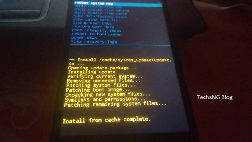 Infinix hot note software update via recovery menu
