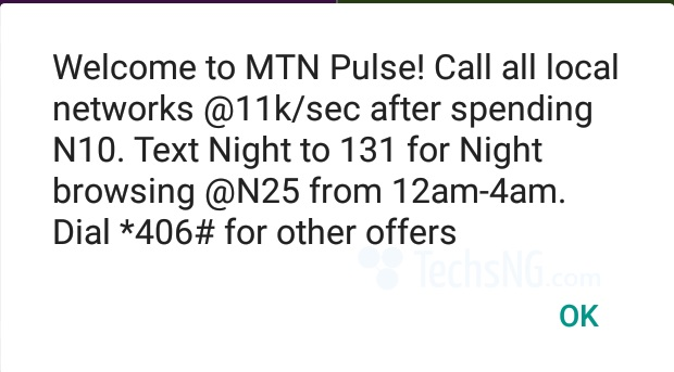 mtn night plan offering 500MB for N25