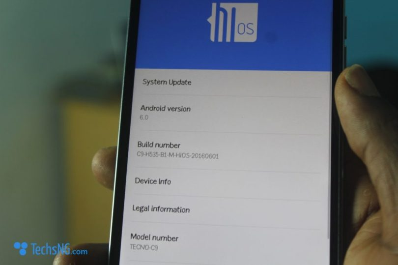 tecno camon c9 operating system