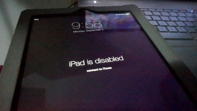 iPad is disabled error