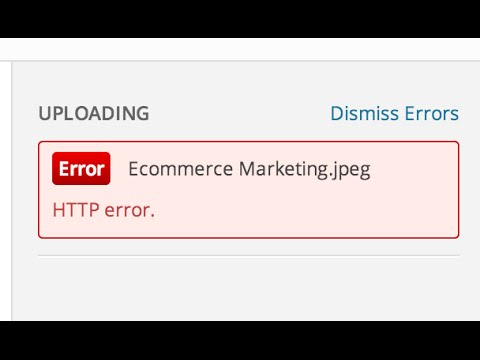 http error on image upload in wordpress