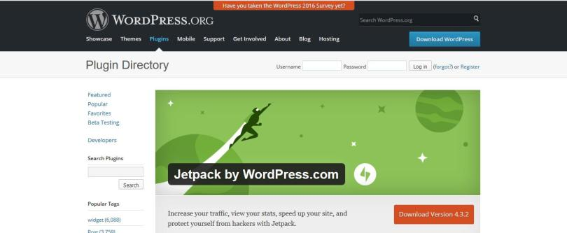 Jetpack wordpress plugin for auto sharing posts