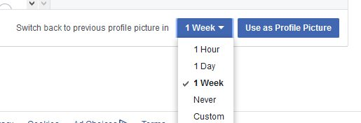 facebook profile pics duration period