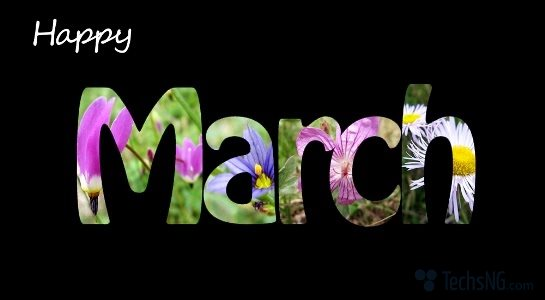Happy March new month