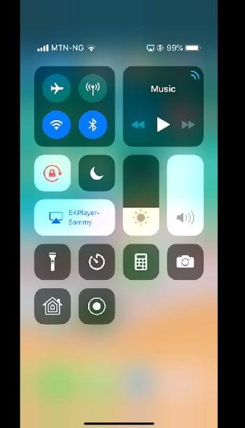 screen mirroring using 5kplayer Airplay