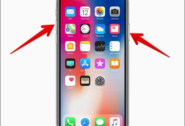 take screenshot on iPhone X, XS, XS Max and XR