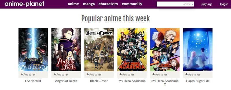 anime planet as kissanime alternative