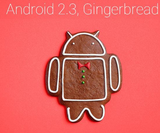 نظام أندرويد ٢.٣ الذي يحمل اسم Gingerbread