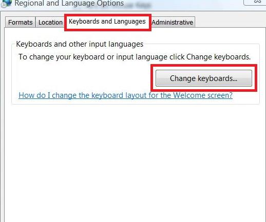 Change Keyboards